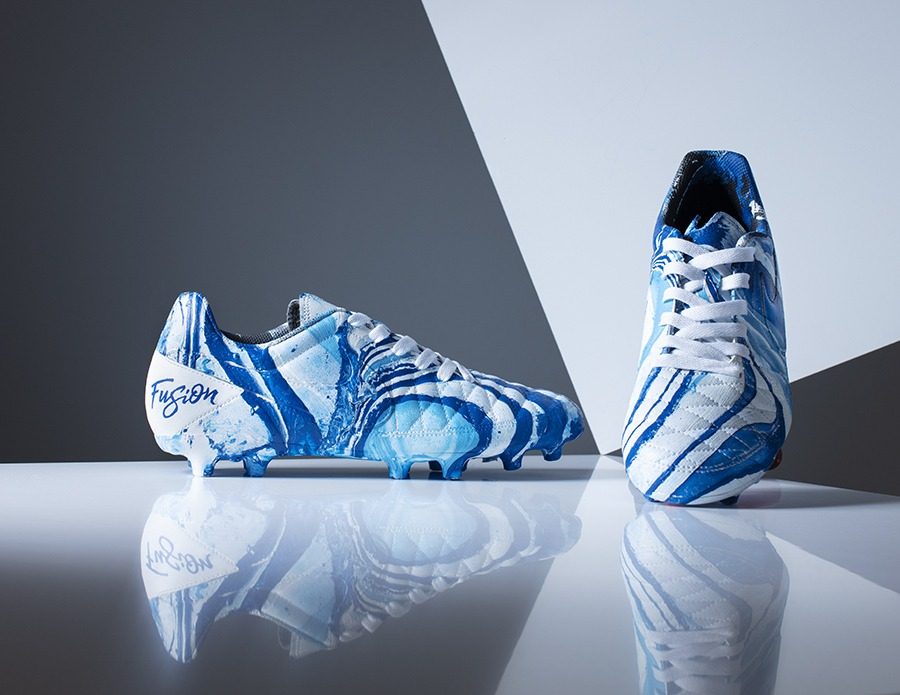 GarthIvan photographs Craig Black Fusion trainers custom football boots